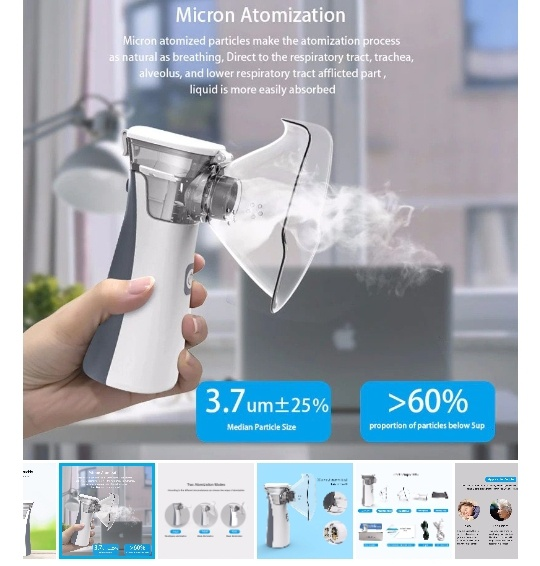 Portable medical breathe right nebulizer picture