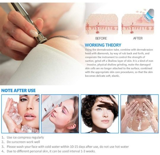 ⏭️3 in 1 therapy:diamond dermabrasion therapy picture