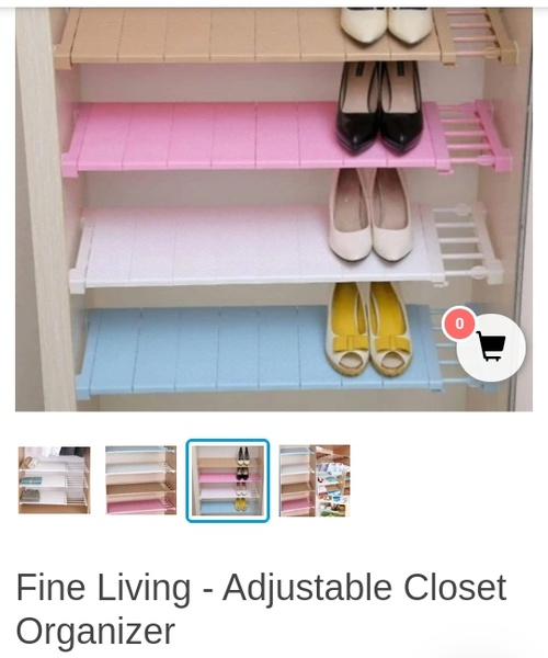 Adjustable closest organizer picture