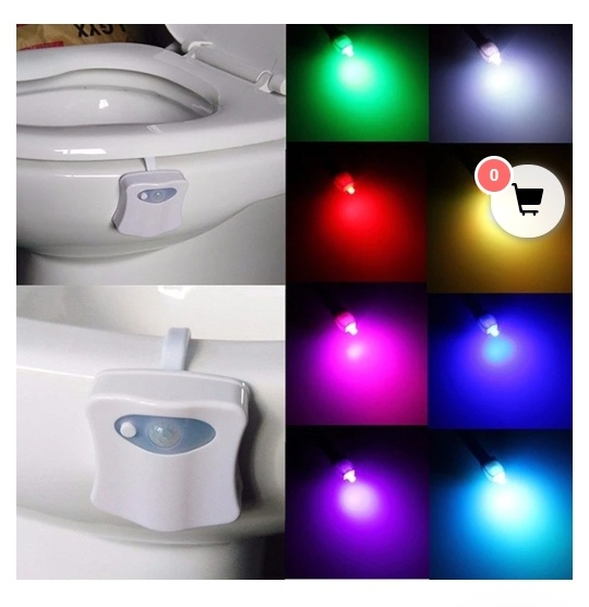 Smart toilet nightlight - motion detection picture