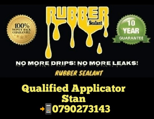 Waterproofing rubber sealant 900m2 r28.620 combo deal supply & application picture