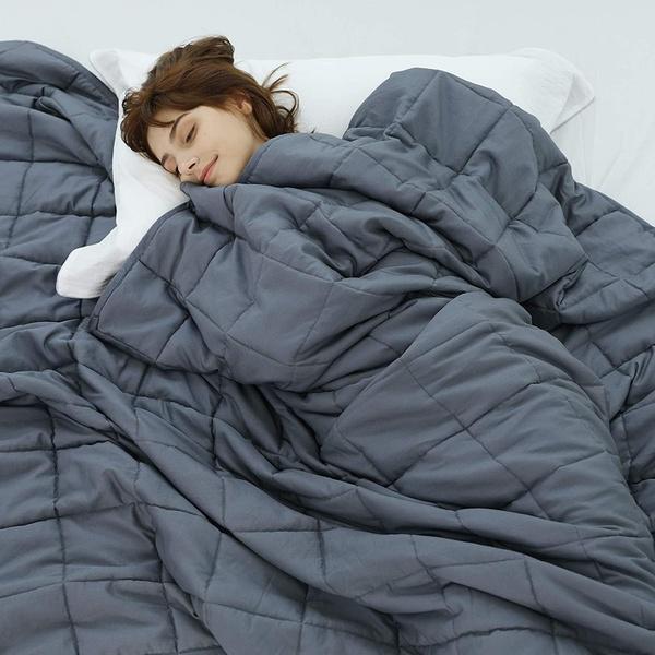 Hypoallergenic cotton grey weighted blanket 3kg picture