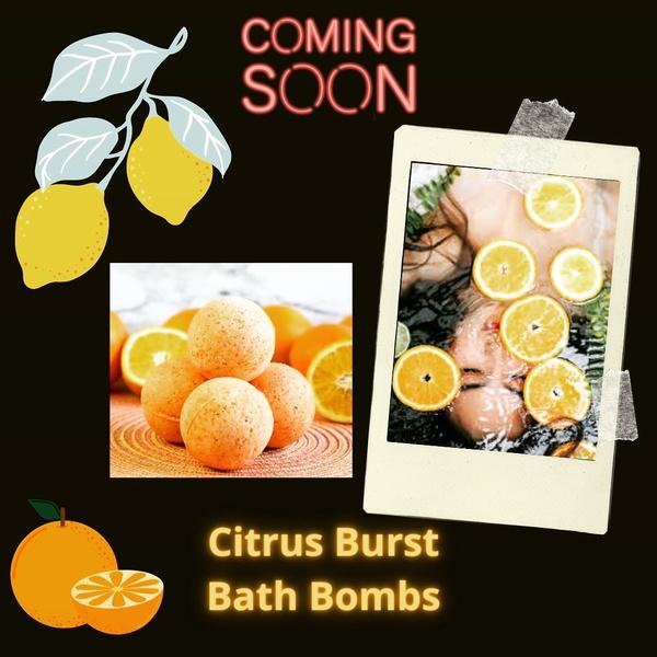 Citrus burst bath bombs picture