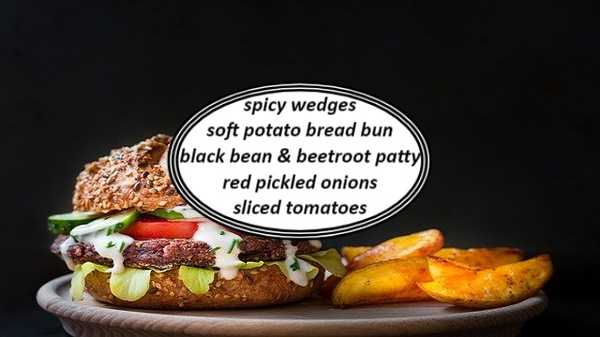 Black bean &  beetroot burgers picture