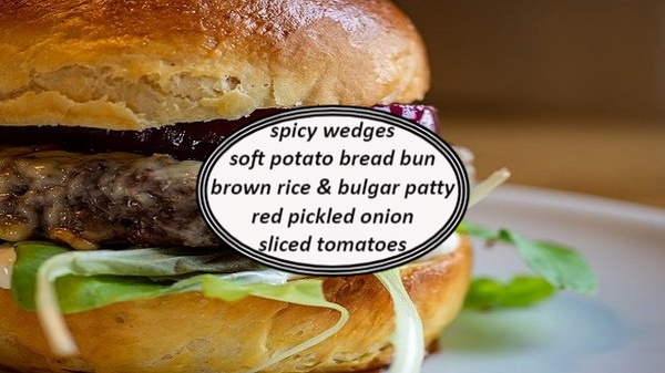 Brown rice & bulgar burgers picture