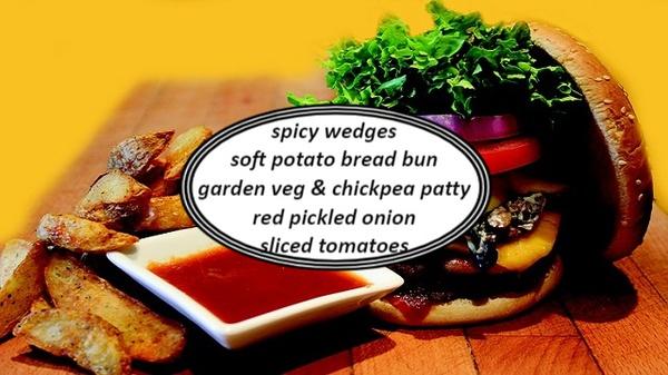 Garden veg & chickpea burgers picture