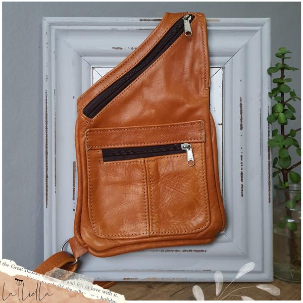 #38 sling crossbody bag - caramel picture