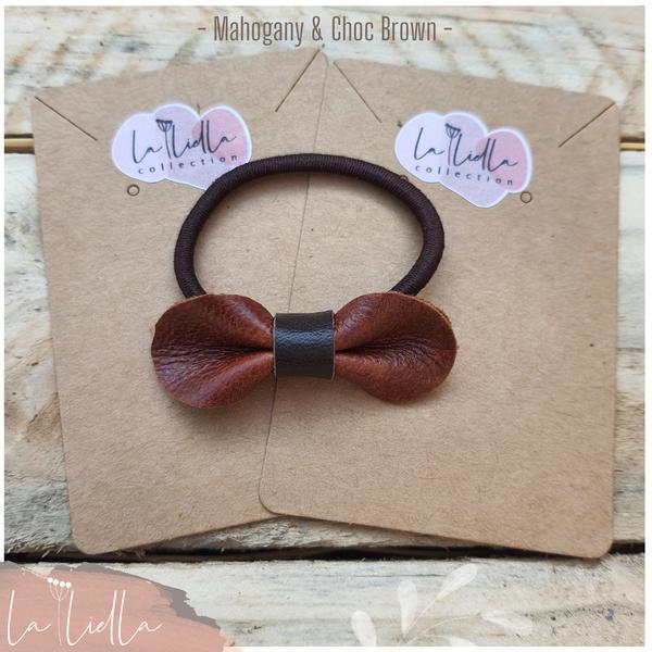 #5-2 hair bands   mahogany brown range picture
