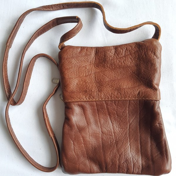 #15a green, yellow shweshwe | caramel leather sling bag picture
