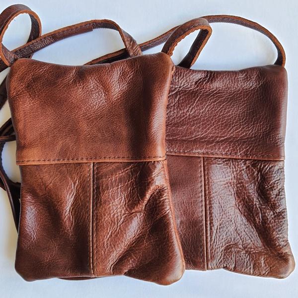 #3 light burgundy brown leather sling bag picture