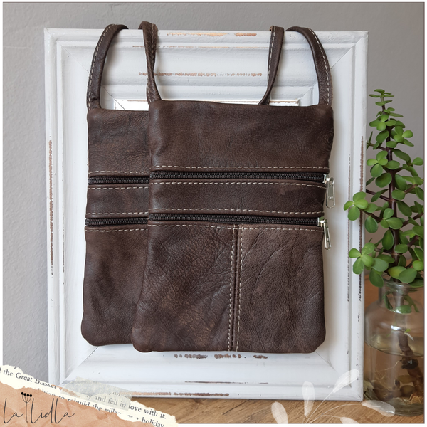 #41 rusty choc leather sling bag picture