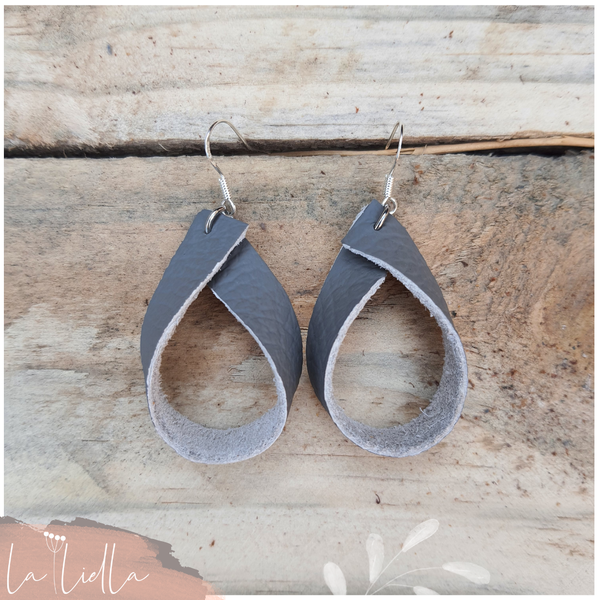#56b leather ribbon hoop | grey picture