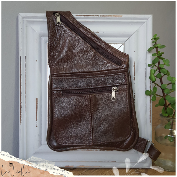 #39 sling crossbody bag - brown picture