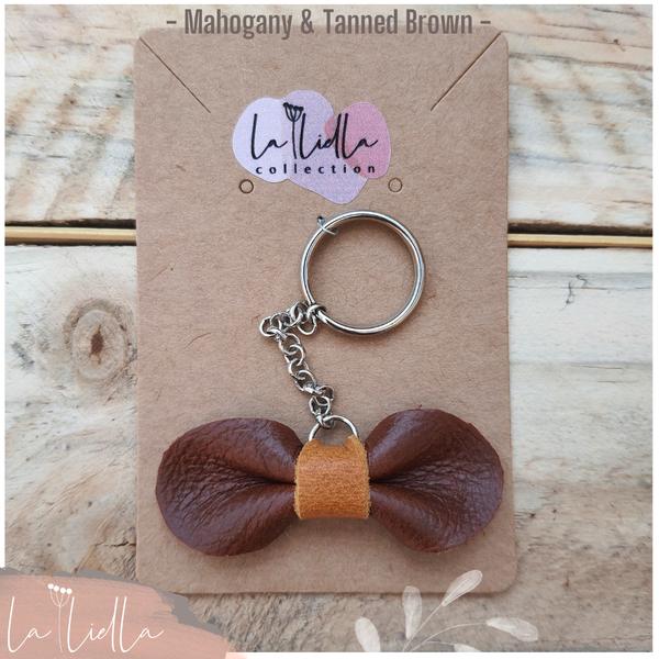 #6-2 key ring   mahogany brown range picture