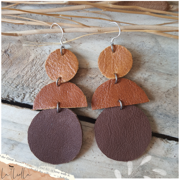 #45 tan, terracotta & brown circle mix picture
