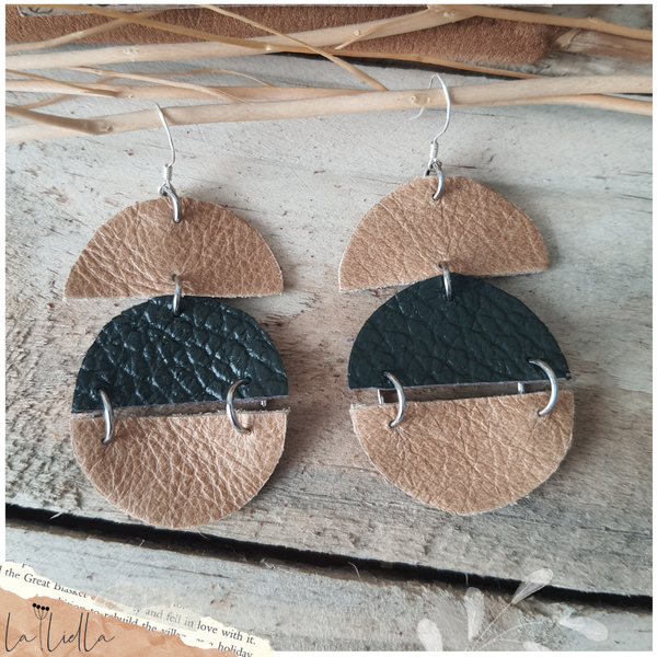 #46a half moons | sandy brown & dark green picture