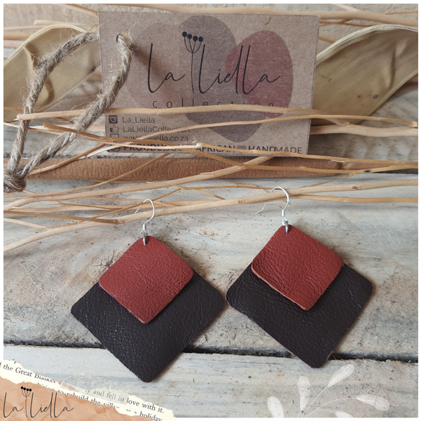 #47 choc brown & deep red diamonds picture