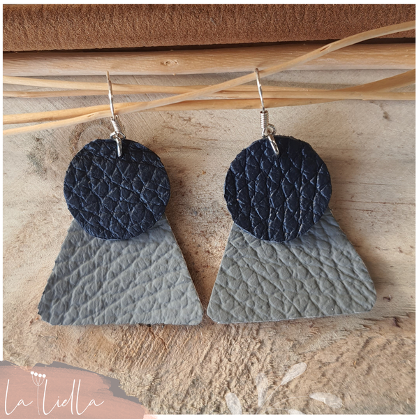 #52 grey & navy blue tri-circles picture
