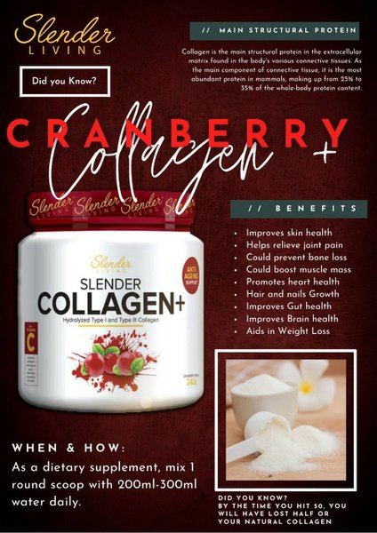Slender living collagen+ cranberry crush picture