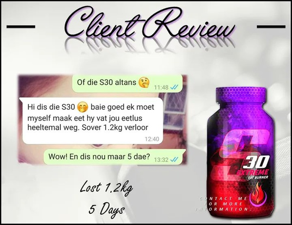S30 extreme fat burner combo picture