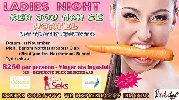 Ladies Night Benoni With Timothy Kieswetter from Gesonde Seks picture