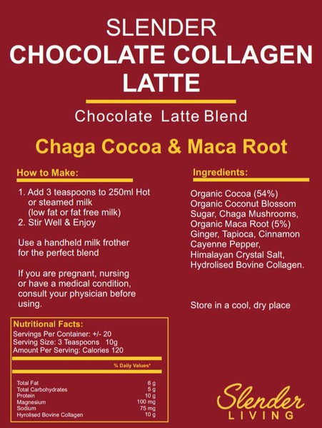 Slender living chocolate collagen latte picture