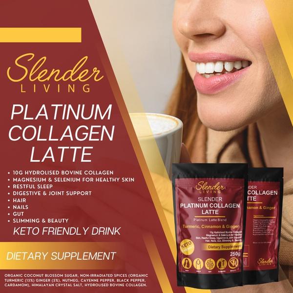Slender living platinum collagen latte picture