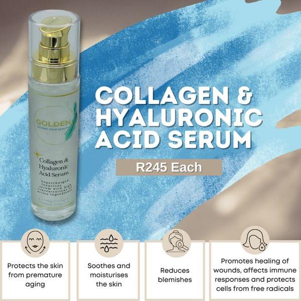 Golden collagen & hyaluronic acid serum picture