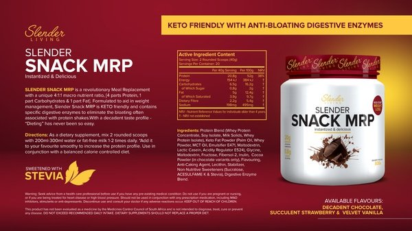 Slender living mealreplacement shake picture