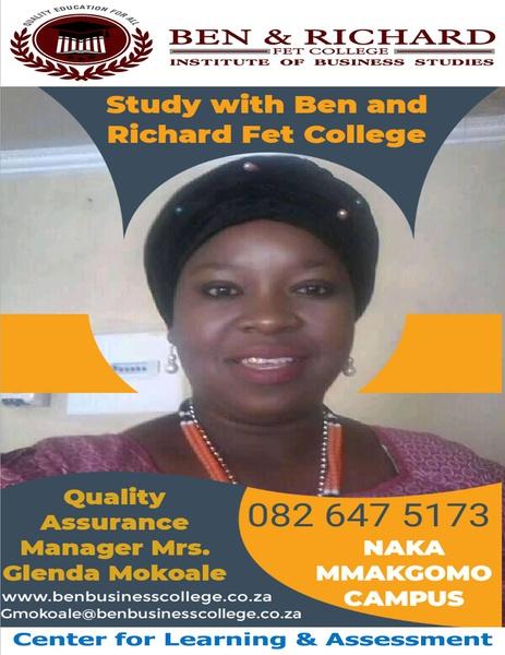 Quality Assurance Manager: Mrs. Glenda Mokoale picture