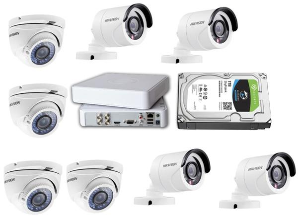 Hik hd-tvi 8 ch dvr 8 camera maxi kit picture