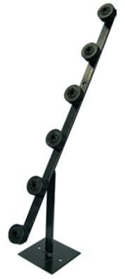 Fence pole - 6line tpole galv black bob picture