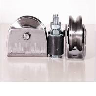 Gate wheel kit-80mm u-profile elect picture