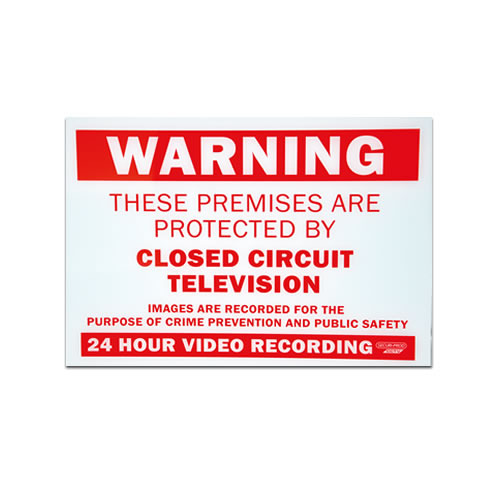 Cctv warning sign sp picture