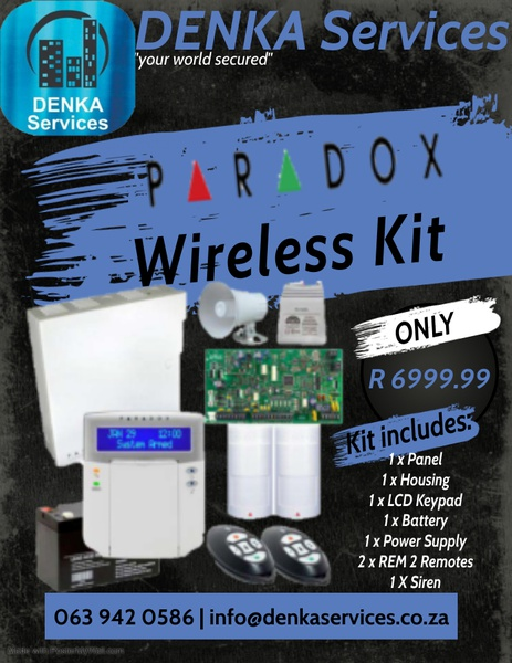 Paradox wireless alarm system picture
