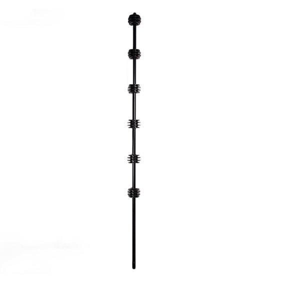 F/pole - 6line round black picture