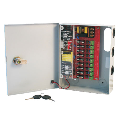 Psu - cctv 9way 5 amp distribution box picture
