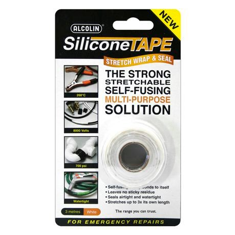 Silicone tape - alcolin - white picture