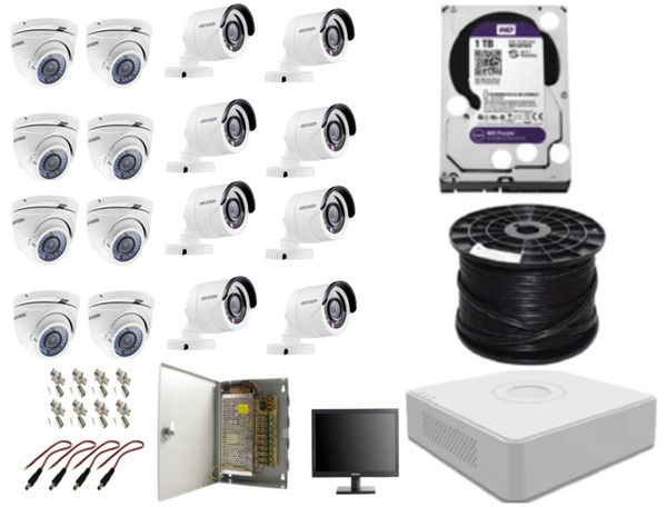 Hik hd-tvi 16ch hi-res dvr installer kit picture