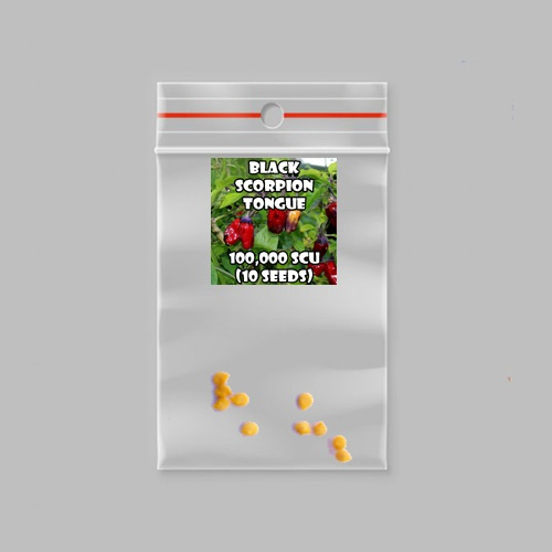 Black scorpion tongue chilli-pepper - 100,000 scovilles (10 seeds) picture