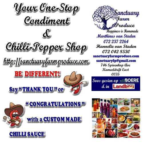 Custom made Chilli Sauces picture