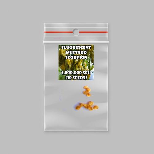 Fluorescent mustard scorpion chilli-pepper - 1,800,000 scovilles (10 seeds) picture