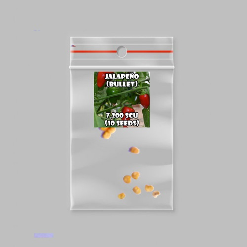 Jalapeño (bullet) chilli-pepper - 7,200 scovilles (10 seeds) picture
