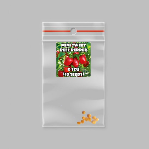 Mini sweet bell chilli-peppers - 0 scovilles (10 seeds) picture