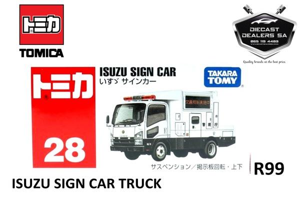 Takara tomy tomica isuzu sign truck picture