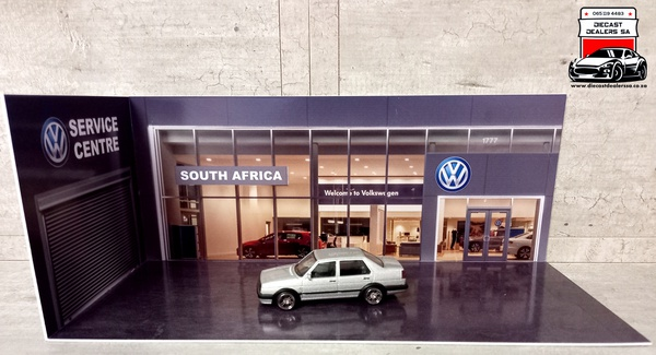 Volkswagen dealership diorama car not included picture