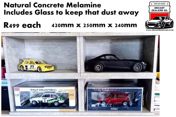 Natural concrete finish melamine display boxes picture