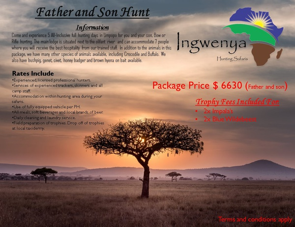 Father and son hunting package picture
