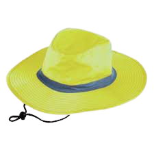 Reflective brimmed bush hat - yellow or orange picture