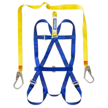 Pioneer safety harness with dorsal padding, harness step, picture